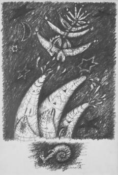 Hostina koprofágů - kresba