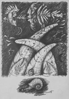 Hostina koprofágů - kresba 1